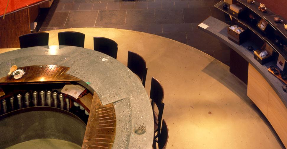 Concrete Tea Bar Top by Fu-Tung Cheng | Concrete Exchange
