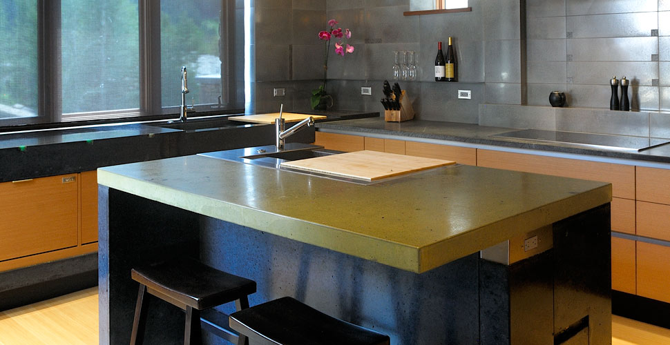 Delicieux Concrete Kitchen By Fu Tung Cheng In Sun Valley, ID