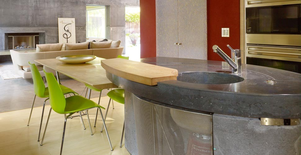 Concrete Kitchen Countertops by Fu-Tung Cheng | Concrete Exchange