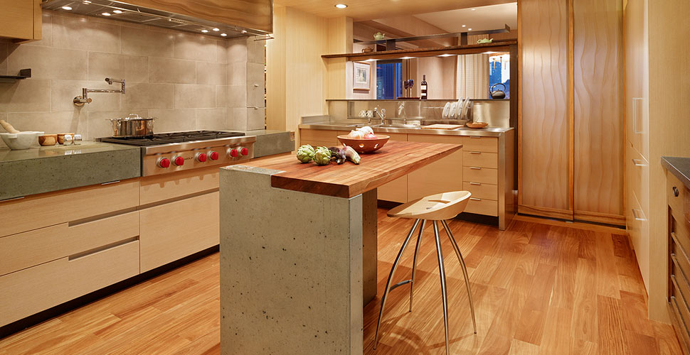 Concrete Countertops And Island In San Francisco Highrise Byt Fu Tung  Cheng, Cheng Design