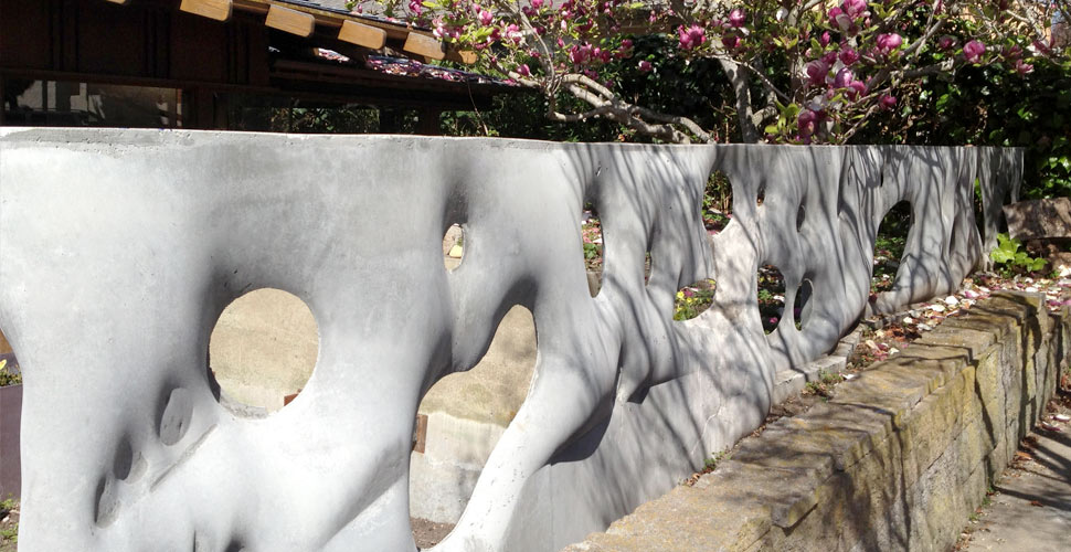 Fabric Formed Concrete Wall by Fu-Tung Cheng | Concrete Exchange