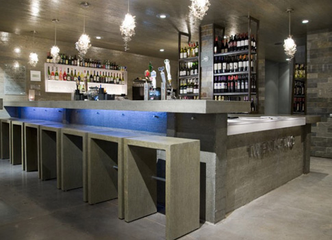 Concrete countertop and bar | CHENG Concrete Exchange