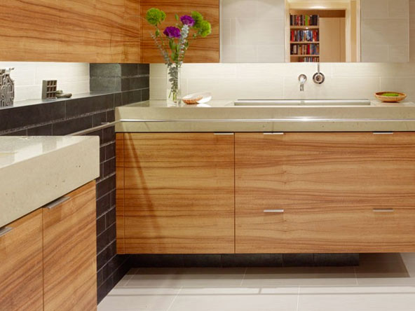 Concrete Bathroom Vanity Tops by Fu-Tung Cheng | Concrete Exchange