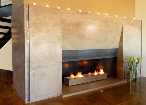Concrete fireplace surround | CHENG Concrete Exchange