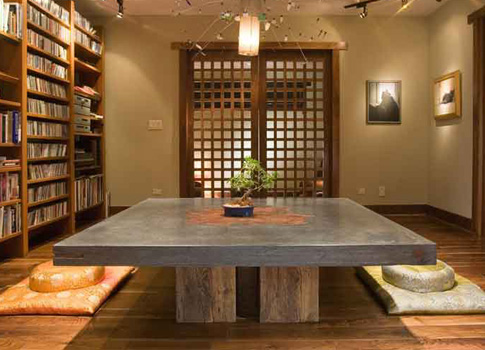 Concrete and wood table |CHENG Concrete Exchange