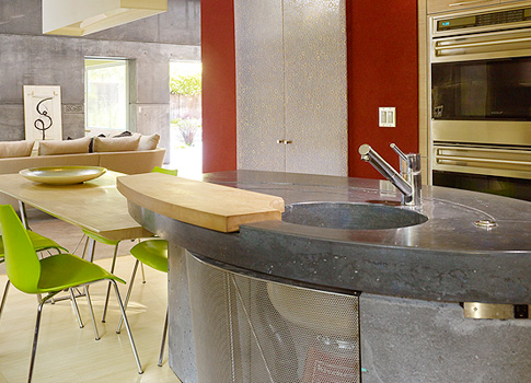 Concrete countertop in House 6 by Fu-Tung Cheng