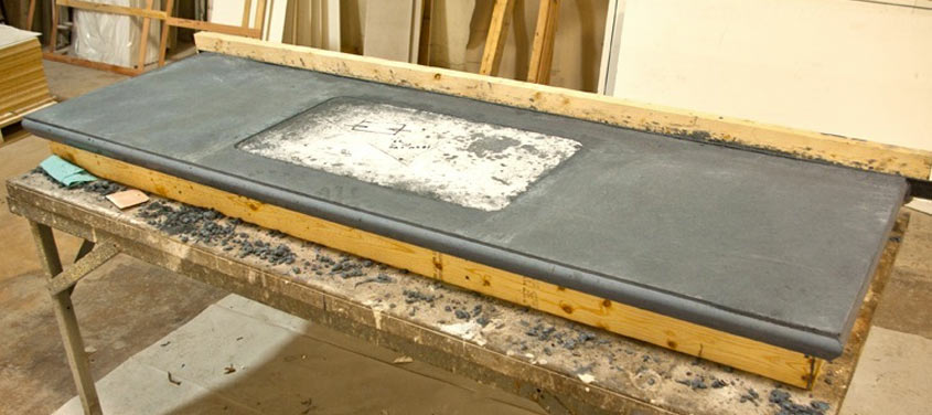 How To Make A Pour In Place Concrete Countertop
