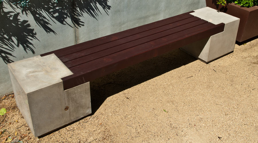 Rhomba Bench Concrete Exchange