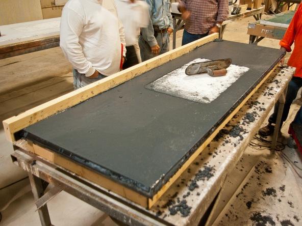 Concrete Countertop Pouring Step 4