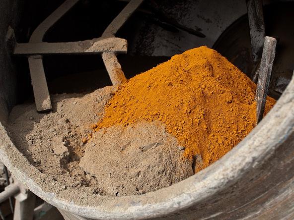 Concrete Pigments in a Concrete Mixer | Concrete Exchange