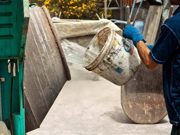 Mix the Concrete Step 2.3 - Precast Concrete Countertops | CHENG Concrete Exchange