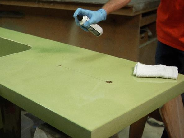 Wax The Countertop Step 2.1   Precast Concrete Countertops | CHENG Concrete  Exchange