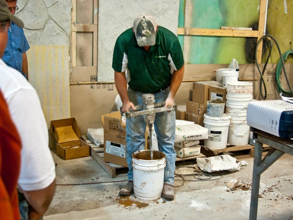 Mixing the Concrete - Hand Pressed Concrete Countertop | CHENG Concrete Exchange