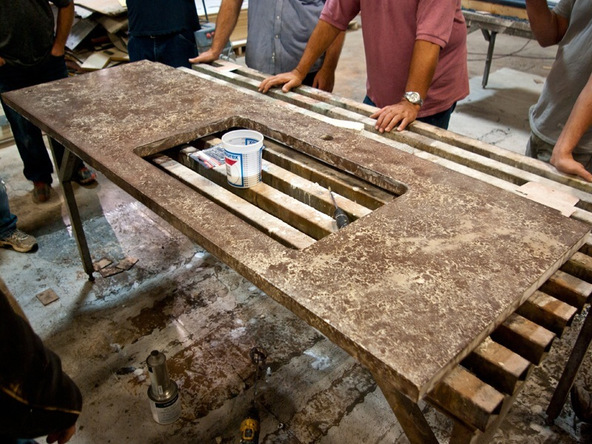 Sealing Step 3.2 - Pressed Concrete Countertops | CHENG Concrete Exchange