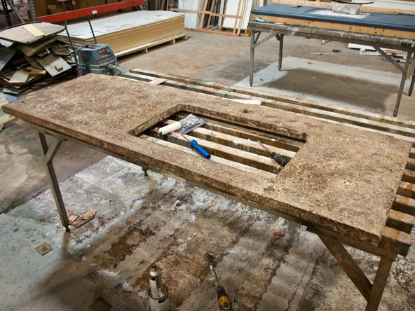 Sealing Step 3.3 - Pressed Concrete Countertops | CHENG Concrete Exchange