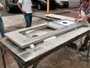 Terrazzo Concrete Countertop Cut Clear Step 1 3 Concrete