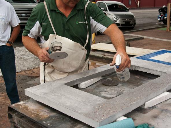 Polish/Densify Step 2.2   Terrazzo Concrete Countertops | CHENG Concrete  Exchange