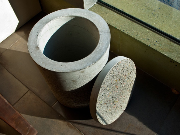 Step 17.2, Finished Piece - 5-Gallon Bucket Storage Stool Pro-Formula | CHENG Concrete Exchange
