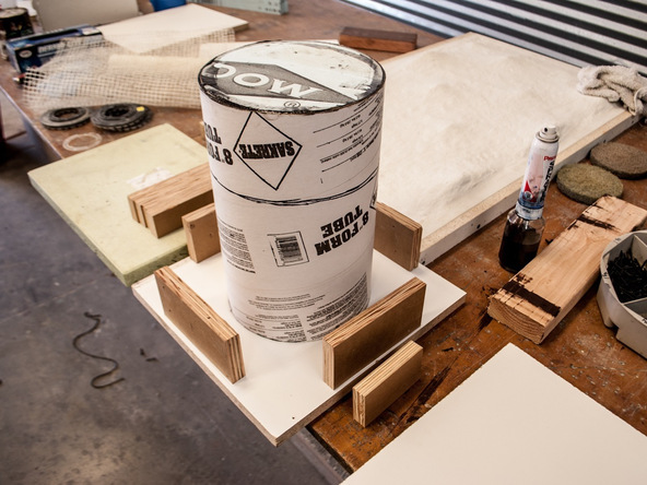 Step 6.2, Baseboard and Knockout - 5-Gallon Bucket Storage Stool Pro-Formula | CHENG Concrete Exchange