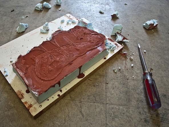 Step 5.2, Remove the Foam - Door Stop | CHENG Concrete Exchange