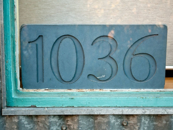 Step 6.2, Finished House Numbers - Concrete House Numbers | CHENG Concrete Exchange