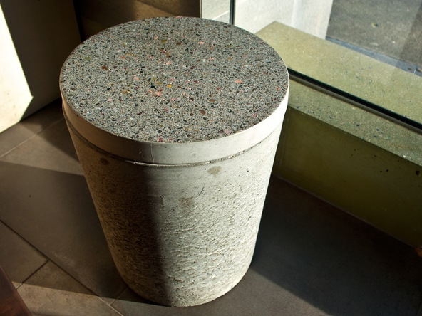 Step 17.1, Finished Piece - 5-Gallon Bucket Storage Stool Pro-Formula | CHENG Concrete Exchange