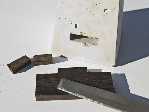 Step 9.1, Make the Wood Ledge - iPad Easel | CHENG Concrete Exchange