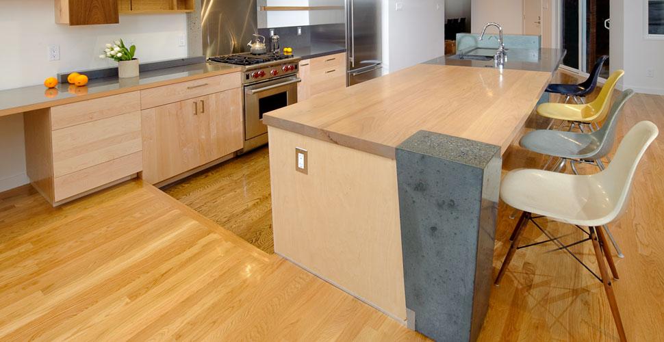 Modern Concrete Kitchen Island Wall