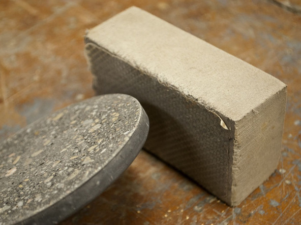 Step 4.2, Polish the Back Flat - Concrete Coasters | CHENG Concrete Exchange