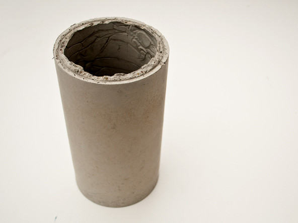 Step 7.1, Sand Rough Edges - Cylindrical Planter | CHENG Concrete Exchange
