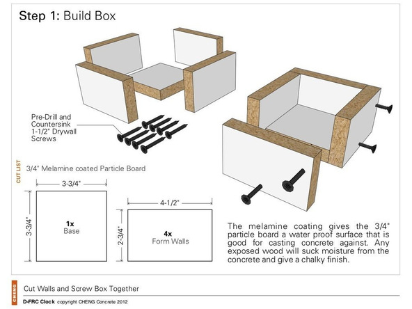 Step 1, Build the Box - Clock | CHENG Concrete Exchange