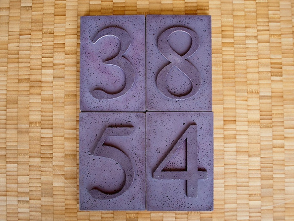 Step 6.3, Finished House Numbers - Concrete House Numbers | CHENG Concrete Exchange