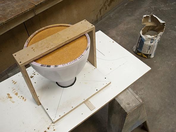 Step 7.1, Mix and Pour Concrete - Umbrella Base | CHENG Concrete Exchange