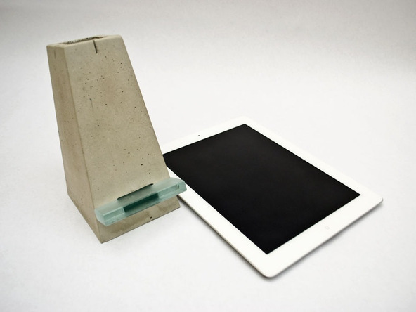 Step 11.1, Finished Concrete - iPad Easel | CHENG Concrete Exchange