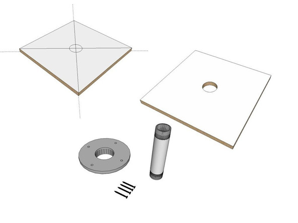 Step 2, Baseboard - Umbrella Base | CHENG Concrete Exchange