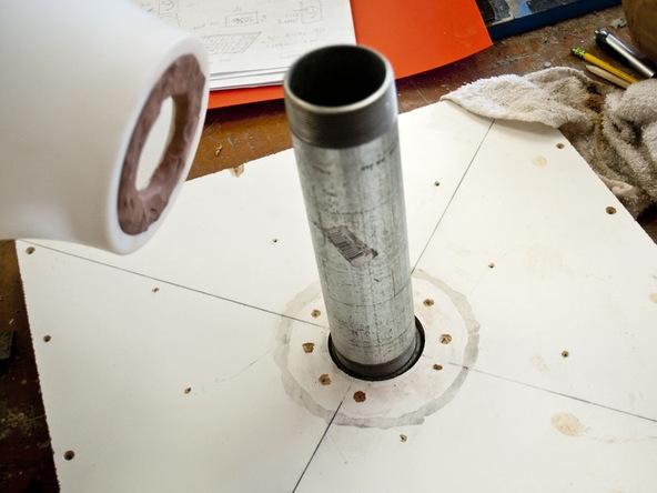 Step 3, Center Pipe - Umbrella Base | CHENG Concrete Exchange