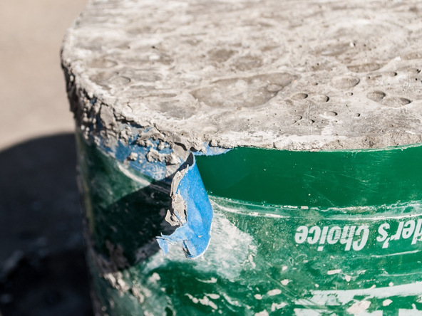 Step 11.1, Demold the Base - 5-Gallon Bucket Storage Stool Pro-Formula | CHENG Concrete Exchange