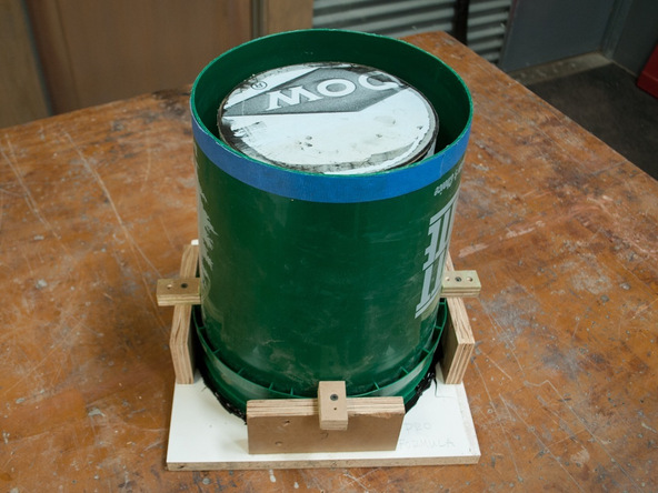 Step 7.1, Complete the Base Form - 5-Gallon Bucket Storage Stool Pro-Formula | CHENG Concrete Exchange