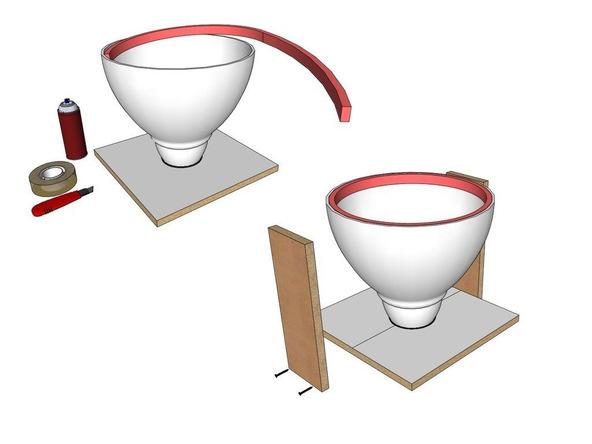 Step 5.2, Foam Strip Reveal/Kick - Umbrella Base | CHENG Concrete Exchange