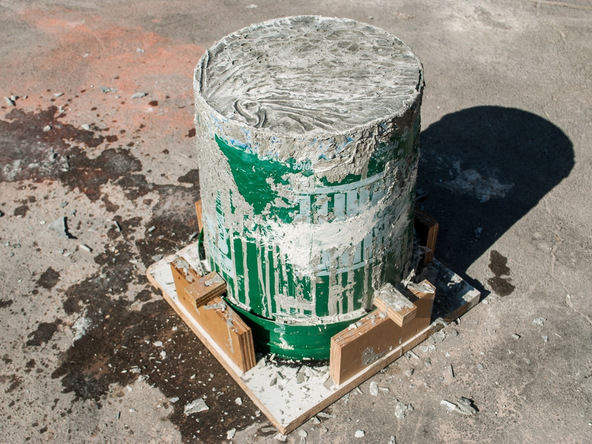 Step 10.1, Demold the Base - 5-Gallon Bucket Storage Stool Pro-Formula | CHENG Concrete Exchange