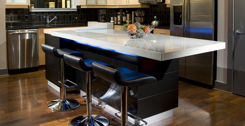 Hiring The Right Concrete Professional Concrete Exchange - Lights under kitchen island