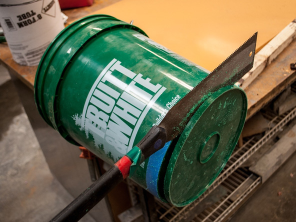 Step 5.1, Construct Main Form - 5-Gallon Bucket Storage Stool Pro-Formula | CHENG Concrete Exchange