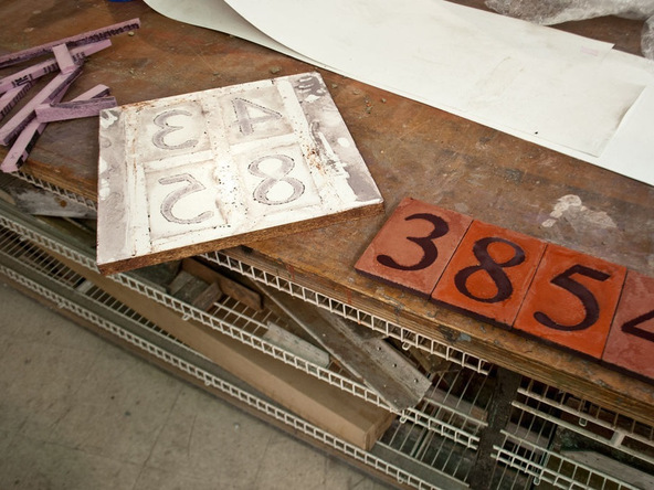 Step 5.1, Demold - Concrete House Numbers | CHENG Concrete Exchange