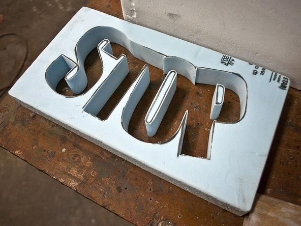 Step 2.2, Cut Out the Letters - Door Stop | CHENG Concrete Exchange