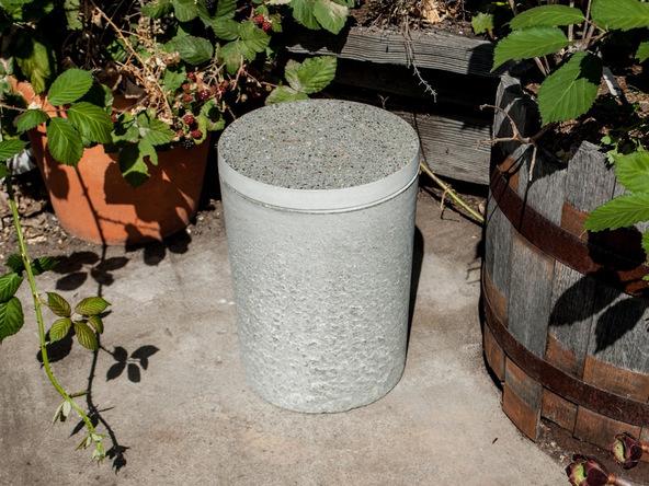 Step 16.3, Finish the Concrete - 5-Gallon Bucket Storage Stool Pro-Formula | CHENG Concrete Exchange
