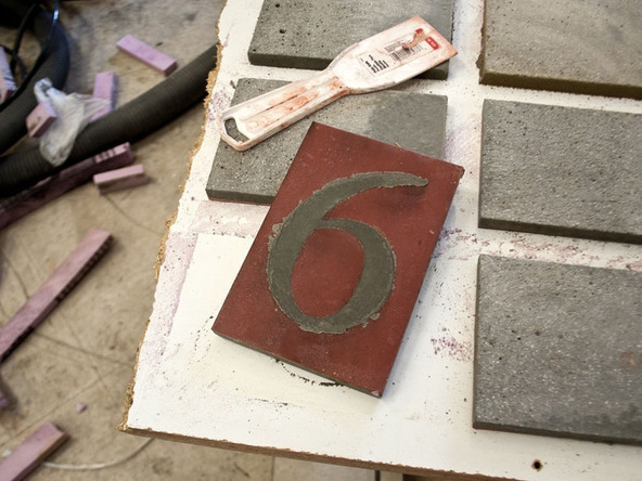 Step 5.2, Demold - Concrete House Numbers | CHENG Concrete Exchange