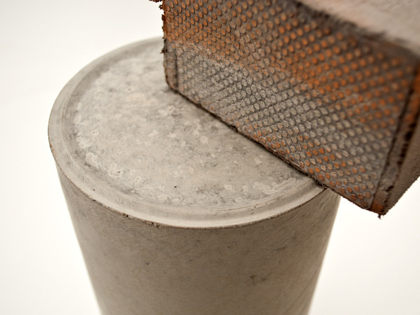 Step 7.2, Sand Rough Edges - Cylindrical Planter | CHENG Concrete Exchange