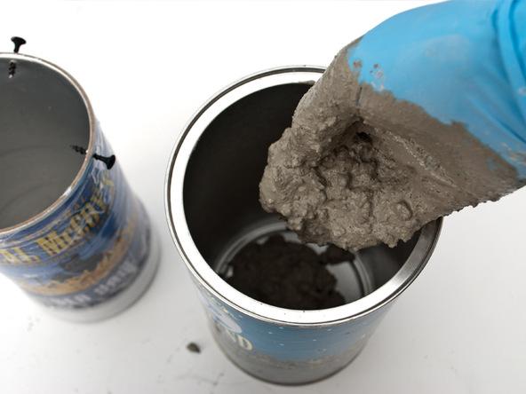 Step 4.3, Mix, Pour, Vibrate Concrete - Cylindrical Planter | CHENG Concrete Exchange