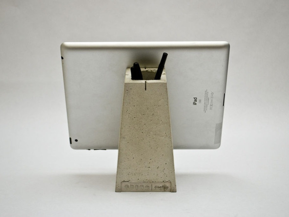 Step 11.2, Finished Concrete - iPad Easel | CHENG Concrete Exchange