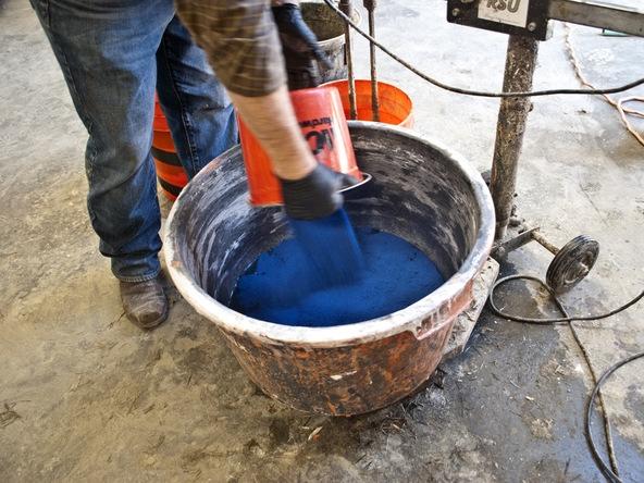 Casting Concrete Step 2.2 - Bent Concrete Side Table | CHENG Concrete Exchange